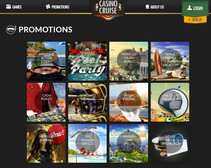 online casino promotions
