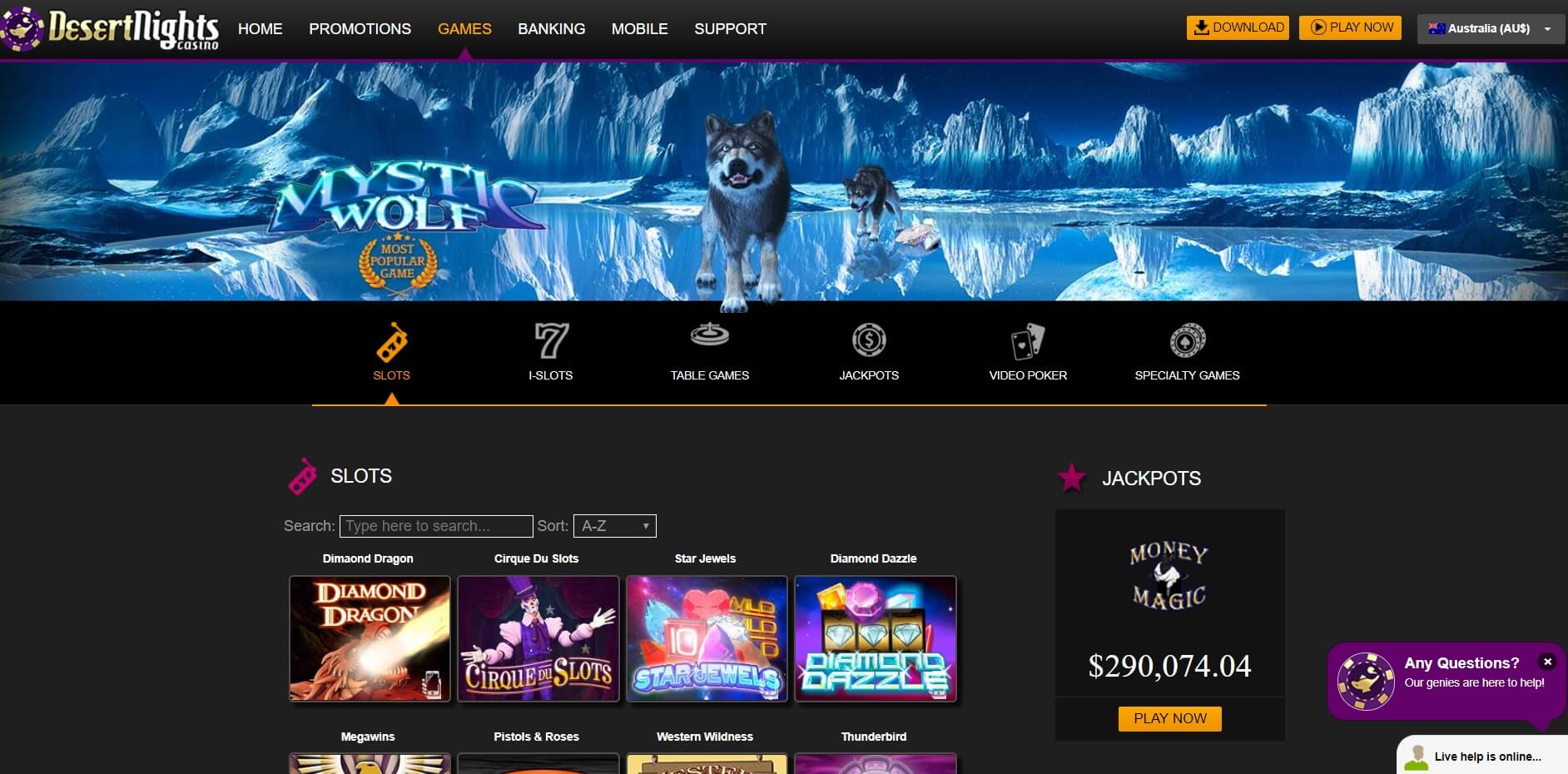 desert nights slots pokies and casino games