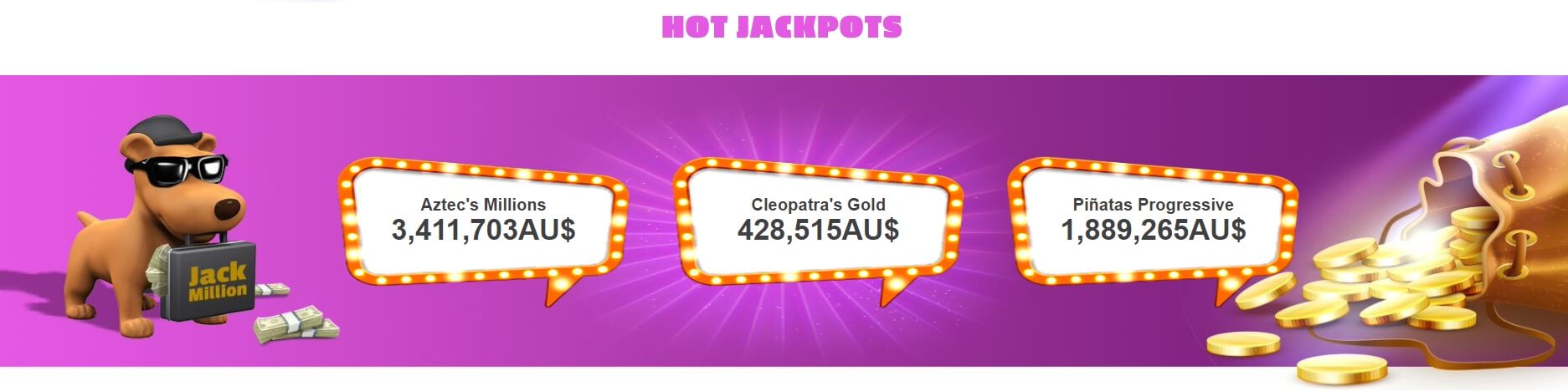 Jack million online casino jackpots