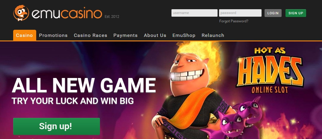 Emu Casino Review - Aussie Casino with Pokies Bonus