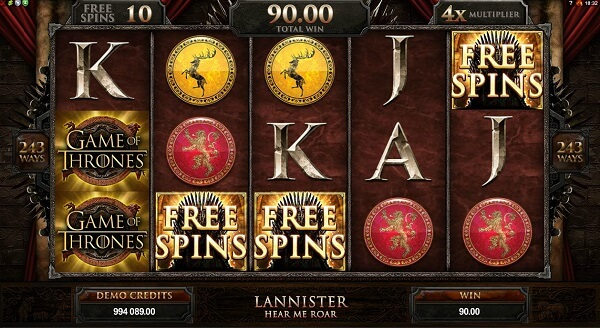 game pf thrones slots