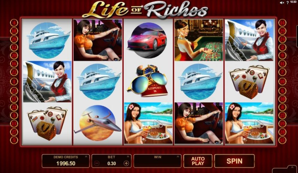 life of riches pokies